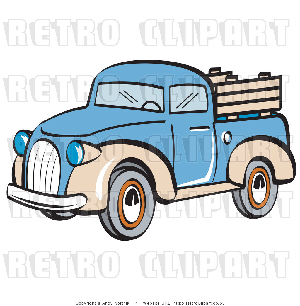 1024x1044 Royalty Free Retro Vector Clip Art Of A Pickup Truck By Andy