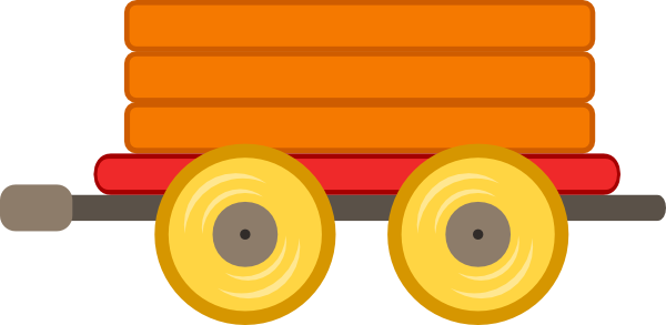 600x293 Train Car Orange Clip Art