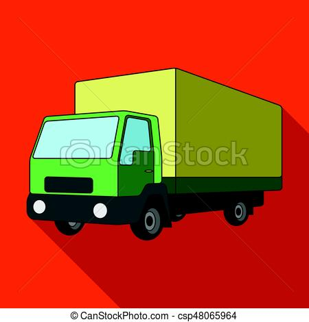 450x470 Truck With Awning.car Single Icon In Flat Style Vector Clip Art