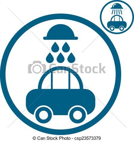 447x470 Car Wash Vector Icon. Car Wash Vector Simplistic Icon. Vectors