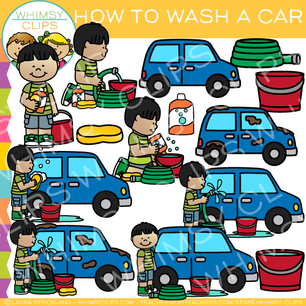 600x600 How To Wash A Car Clip Art , Images Amp Illustrations Whimsy Clips