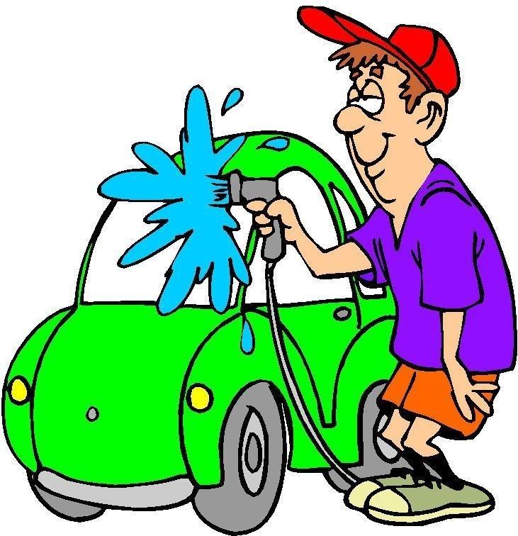731x756 Washing The Car Clipart