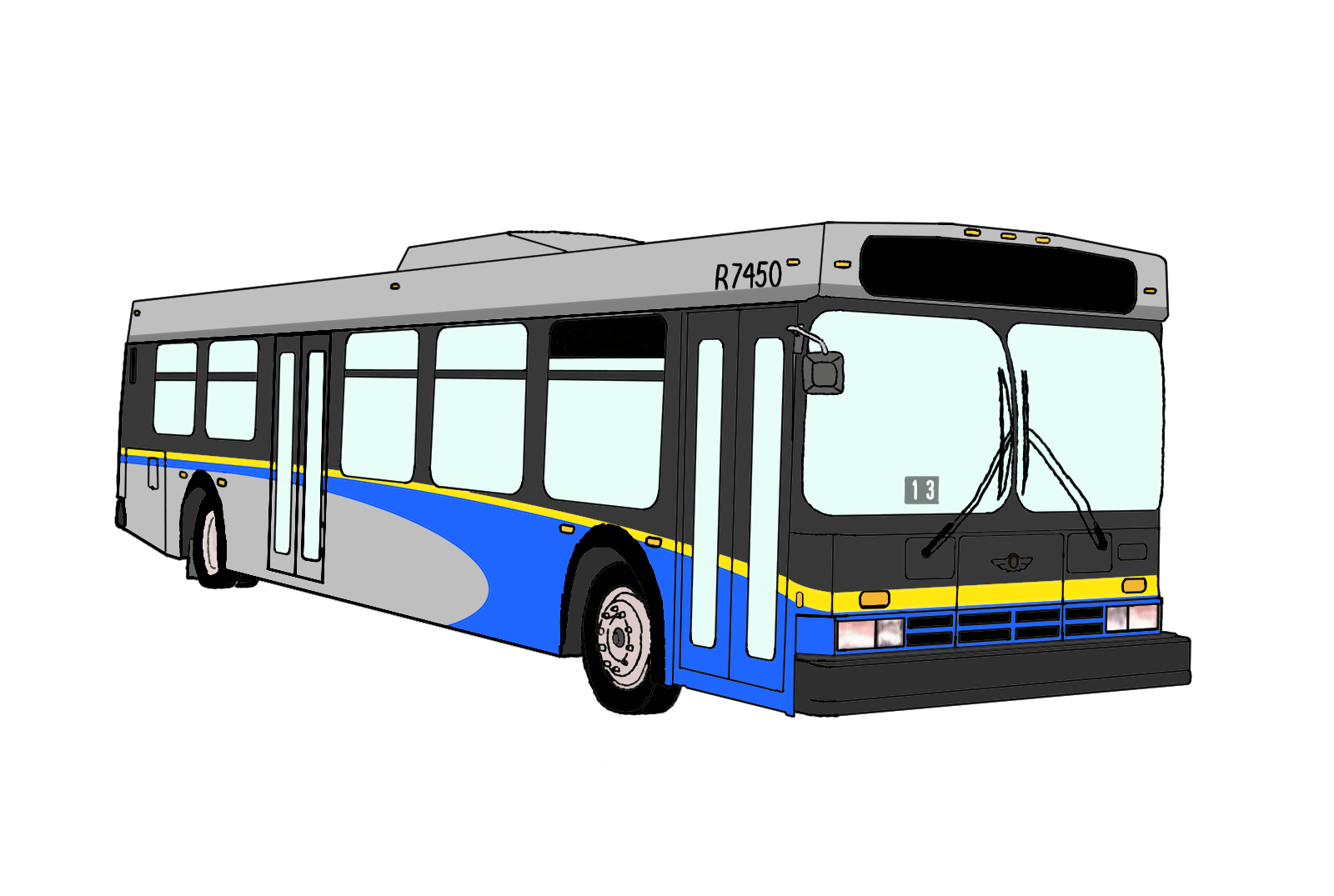 1600x1075 Colouring Pages Bus