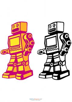 236x333 Robot Coloring Page Robot Love Robot, Freezer