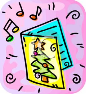 277x300 Clip Art Image A Musical Christmas Card