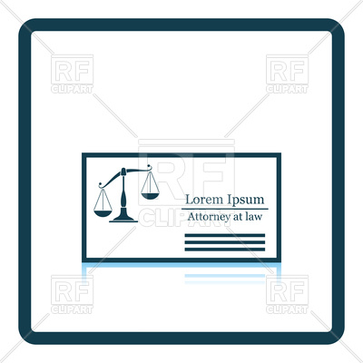 400x400 Lawyer Business Card Icon Royalty Free Vector Clip Art Image