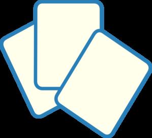 299x270 Card Deck Blue Clip Art