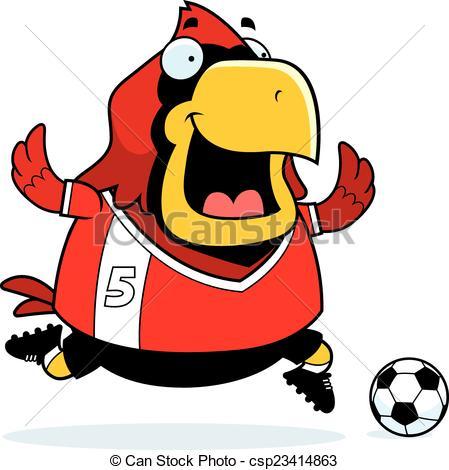 449x470 Cartoon Cardinal Soccer. A Cartoon Illustration Of A Clip Art