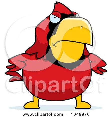 450x470 Royalty Free (Rf) Clip Art Illustration Of A Red Cardinal Running