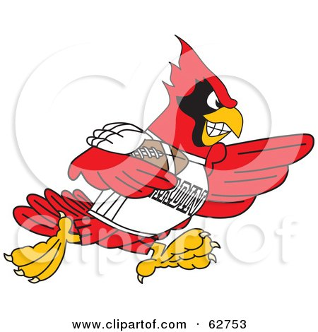 450x470 Royalty Free (Rf) Clipart Illustration Of A Red Cardinal Character