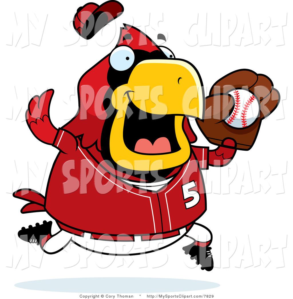 1024x1044 Sports Clip Art Of A Cardinal Catching A Baseball By Cory Thoman