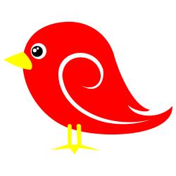 250x250 Red Bird Clip Art Clipartlook