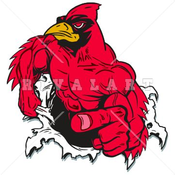 Cardinal Football Clipart