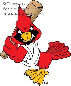 246x300 Clipart Cartoon Cardinal Playing Baseball