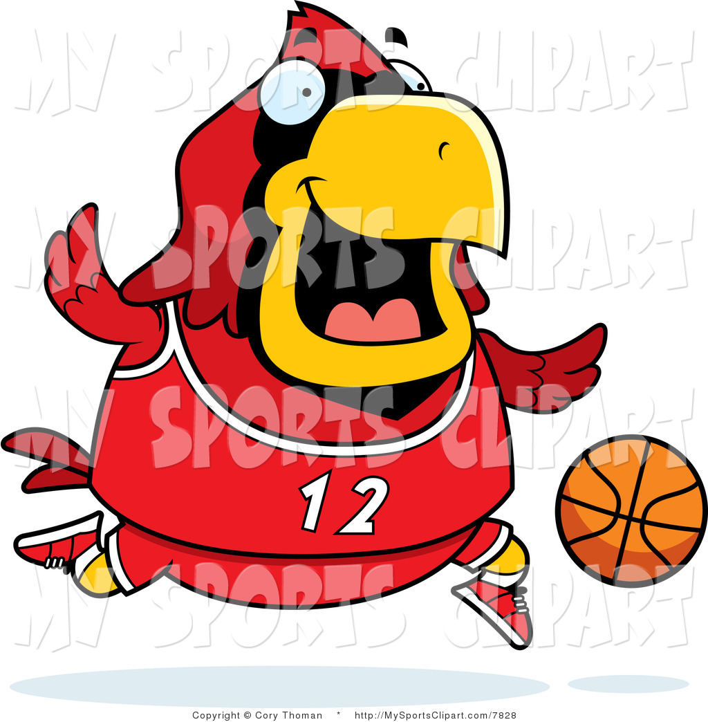 1024x1044 Sports Clip Art Of A Cardinal Playing Basketball By Cory Thoman