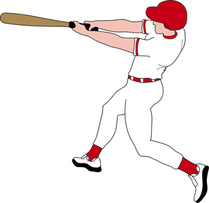 300x292 Cardinals Baseball Player Batting Clipart