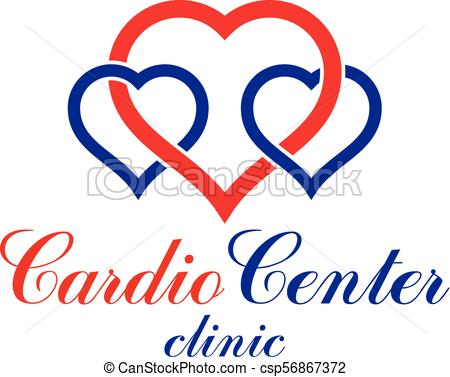 450x377 Vector Illustration Of Heart Shape. Cardiovascular System