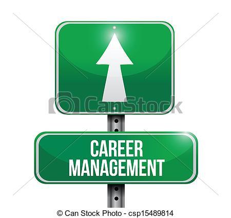 450x425 Career Management Road Sign Illustration Design Over A White