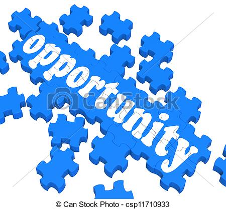 450x417 Opportunity Puzzle Shows Career Chances And Progress Drawings