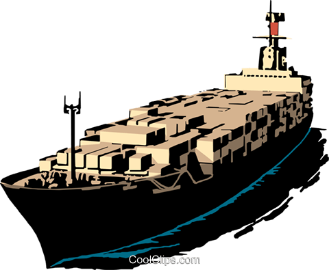 480x395 Cargo Ship Royalty Free Vector Clip Art Illustration Tran0178