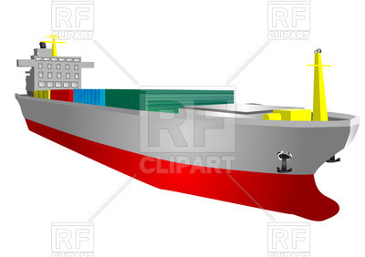 400x282 Cargo Ship With Containers