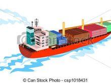 220x165 Clip Art Cargo Ship