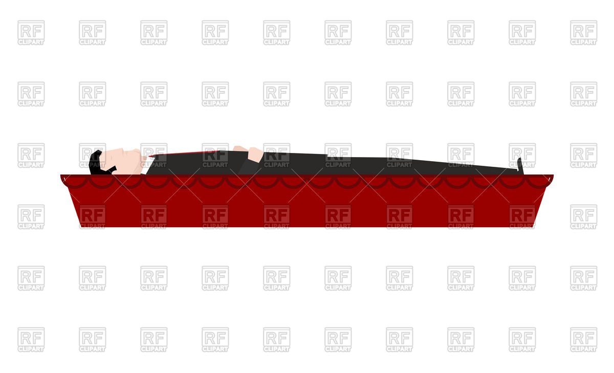 1200x729 Dead Man In Coffin Isolated Royalty Free Vector Clip Art Image