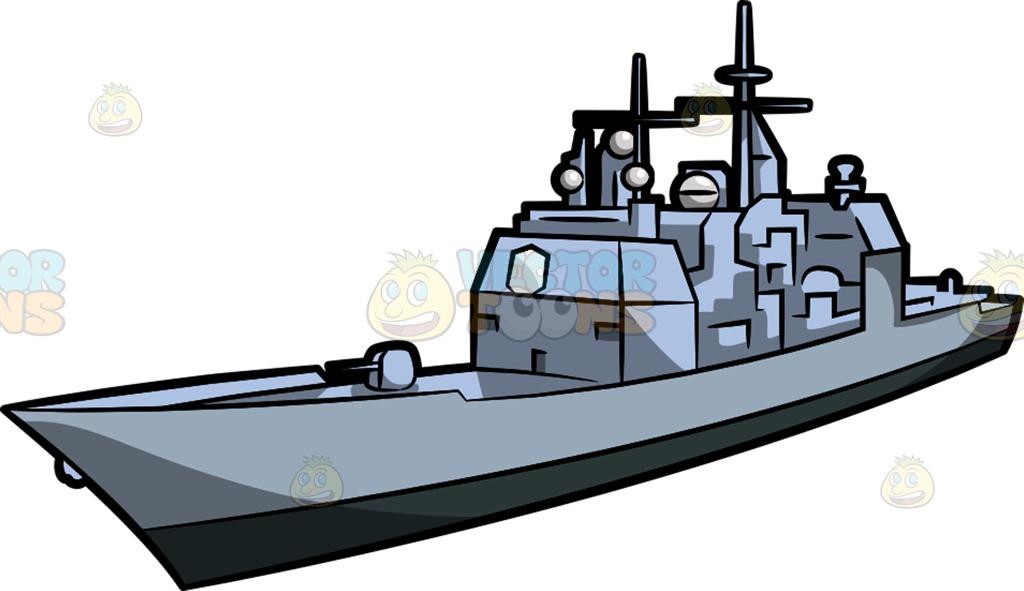 1024x591 A Military Cargo Ship Cartoon Clipart Vector Toons