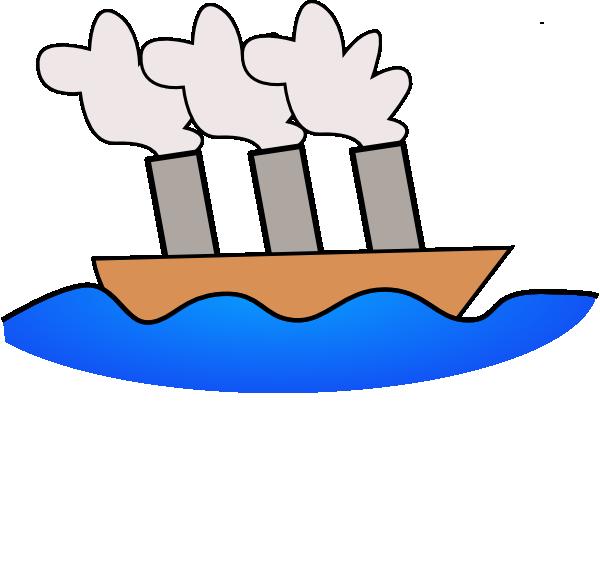 600x564 Steamer Boat Clip Art Free Vector 4vector