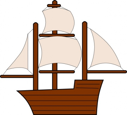 425x384 Tall Ship Clipart