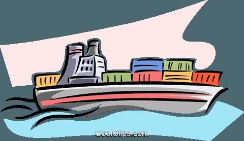 480x278 Cargo Ship Royalty Free Vector Clip Art Illustration Vc063798