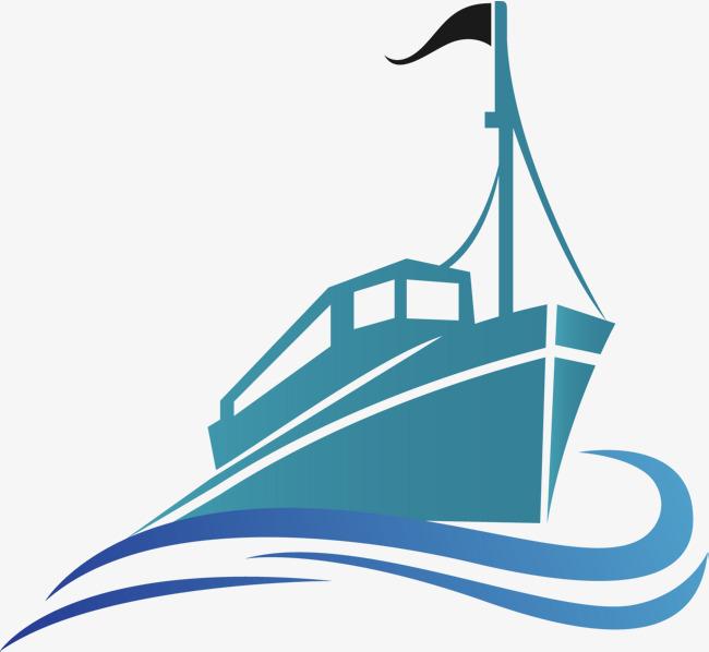 650x598 Blue Cargo Ship Vector, Vector Cargo Ship, Ocean Shipping