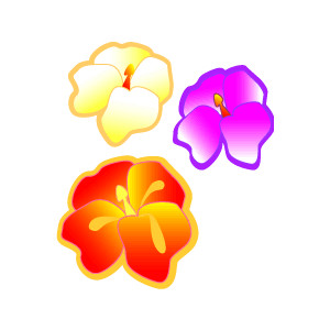 300x300 Caribbean Clipart Colorful Flower