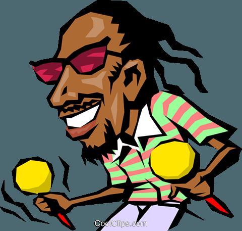 480x457 Cartoon Caribbean Musician Royalty Free Vector Clip Art