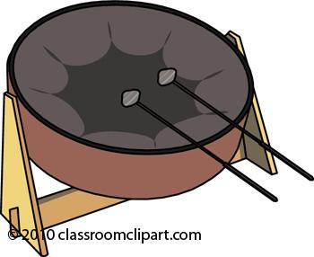 350x286 Caribbean Drum Clipart