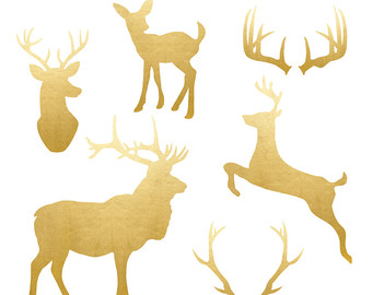 340x270 Stag Clip Art Images Etsy
