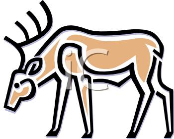 350x280 Prehistoric Bird Symbols Royalty Free Caribou Clipart Cave Art