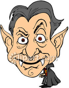 236x300 A Caricature Of A Vampire Royalty Free Clipart Picture