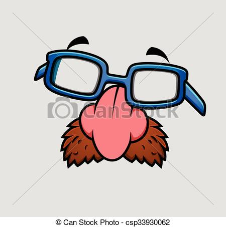 450x453 Caricature Nose And Glasses Mask Vector Fancy Object Vector