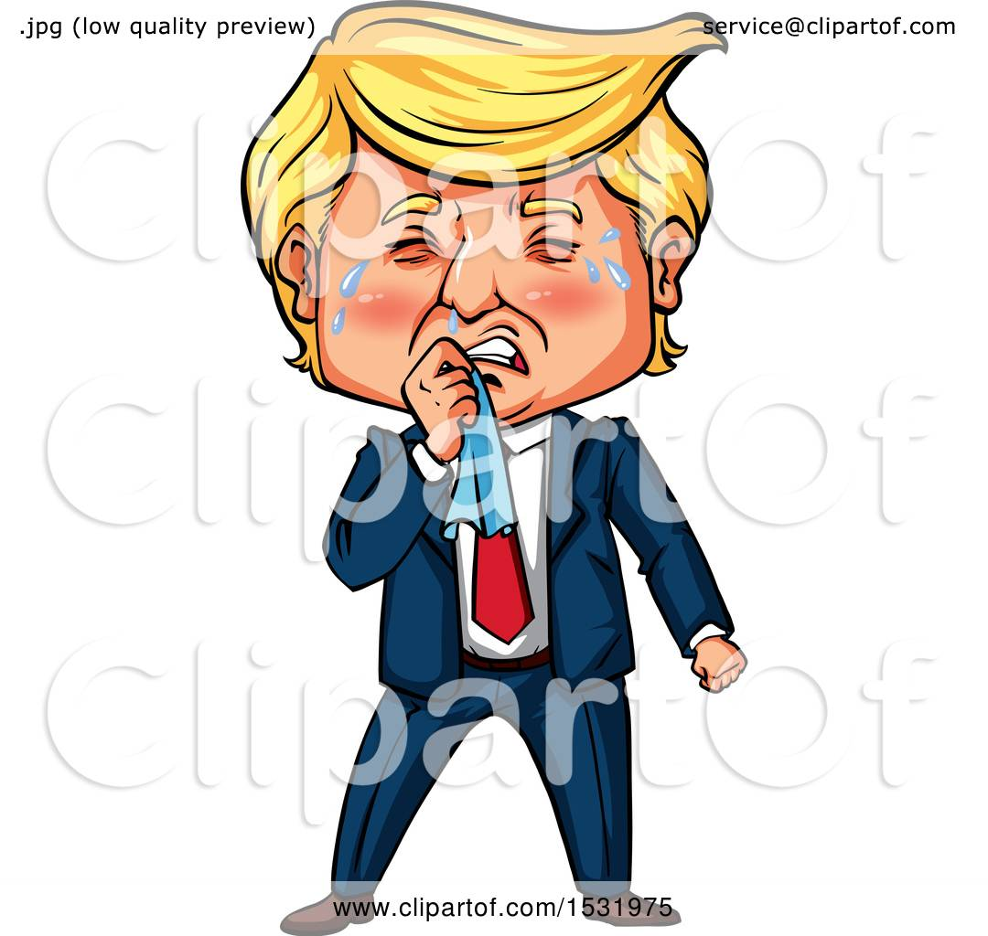1080x1024 Clipart Of A Caricature Of Donald Trump