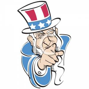300x300 A Traditional Caricature Of Uncle Sam Wants You Slogan