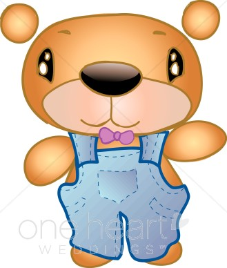 329x388 Bear Caricature In Overalls Teddy Bear Wedding Clipart