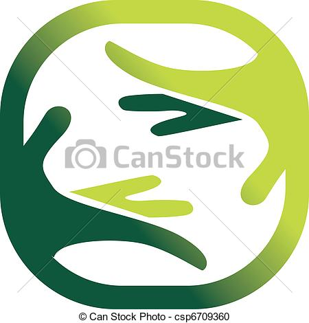 450x470 Green Symbol Of A Nature's Care. Vector Vector Clipart