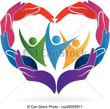 450x446 Hands Heart Love Caring People Vector Image Vector Clip Art