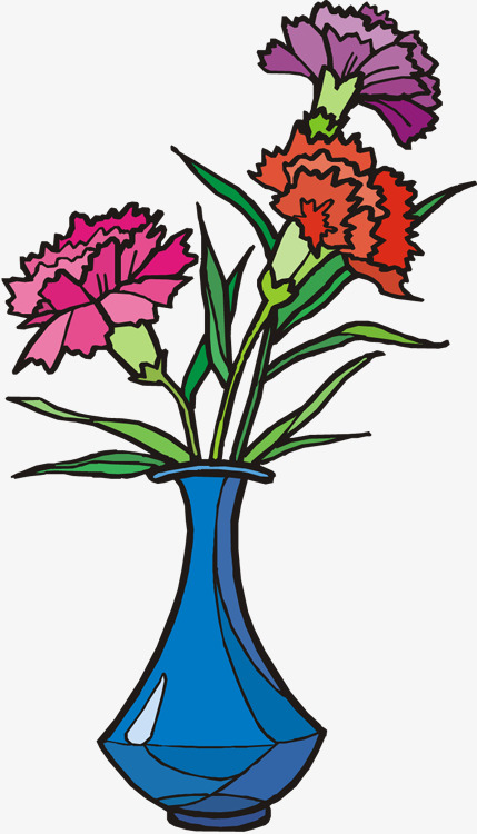 429x750 Hand Painted Carnation, Hand Painted, Plant, Flowers Png Image