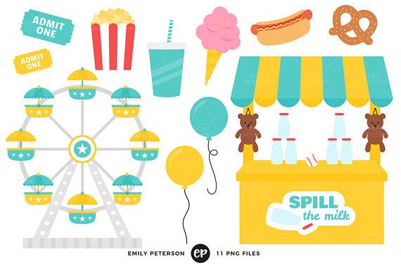 570x379 Carnival Clip Art, Ferris Wheel Clipart, Cotton Candy Clip Art