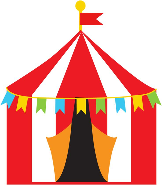 525x600 Free Carnival Tent Clipart Free Images