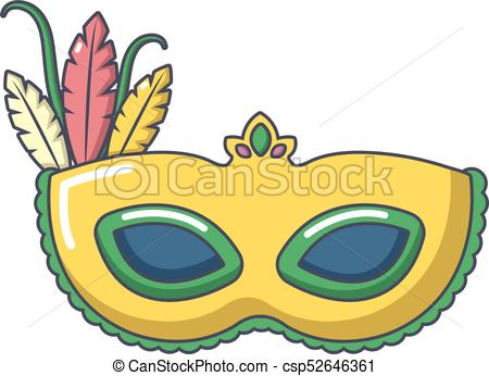 450x346 Carnival Mask Icon, Cartoon Style. Carnival Mask Icon . Clip Art