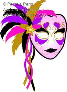 220x300 Colorful Mardi Gras Mask Picture Photo Clipart, Mardi Gras