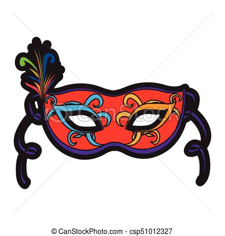 450x470 Isolated carnival mask on a white background, vector vector